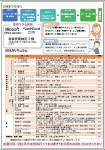 ITスキルアップ基礎科チラシ2